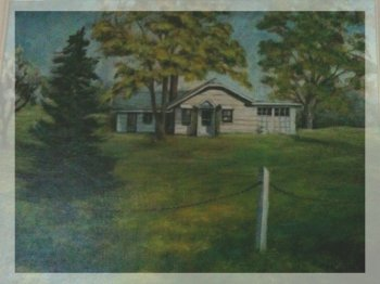 Painting of Apple Hill Cottage, ca.1973