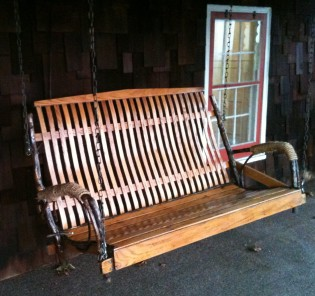 amish porch swing