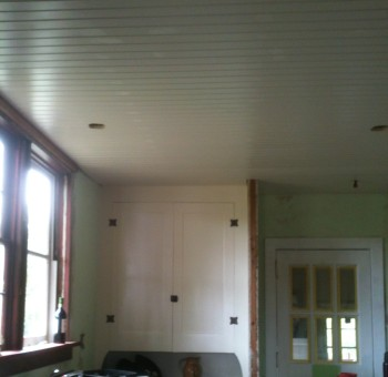 new wood ceiling