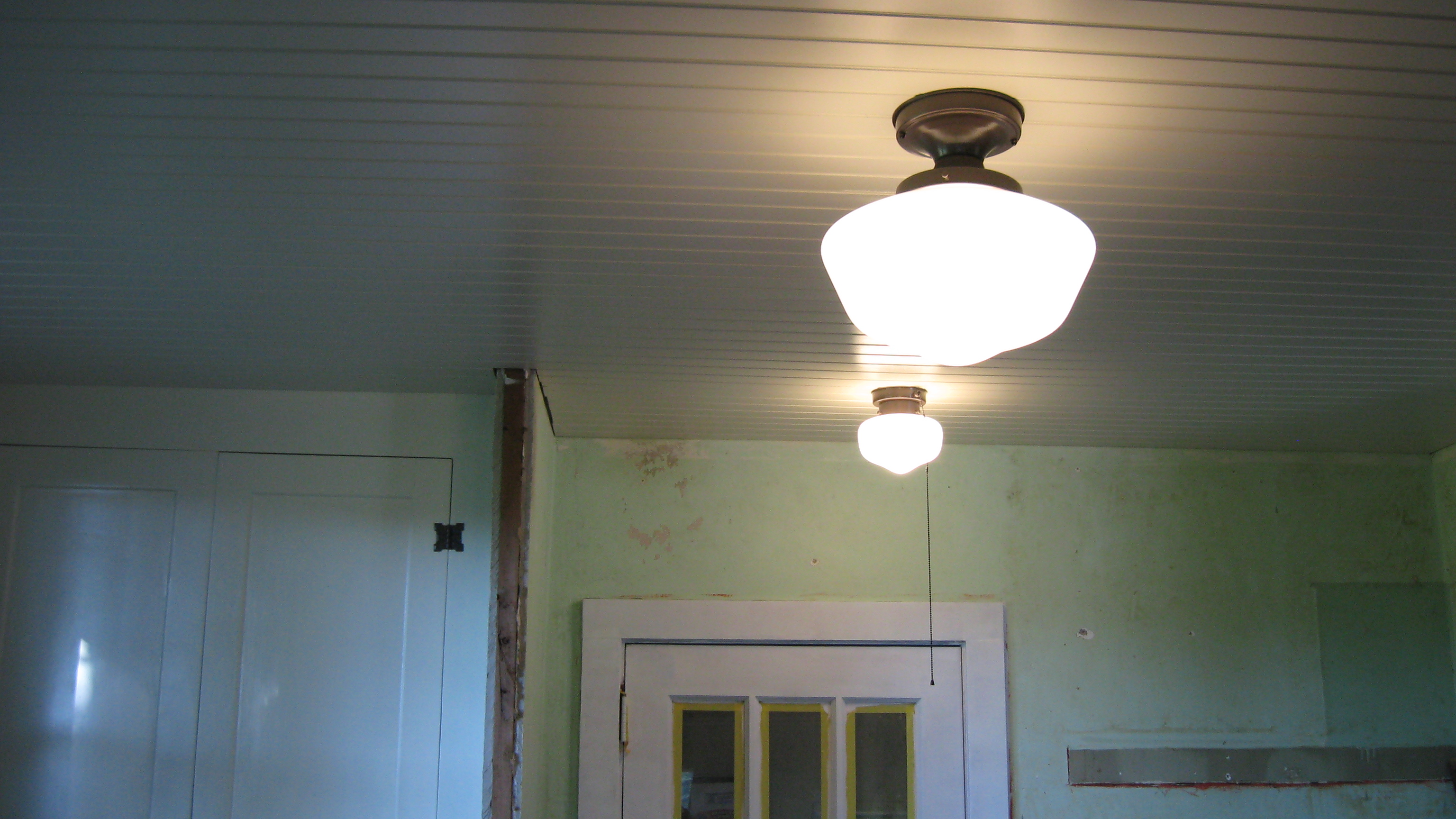 Schoolhouse light fixtures the circle of life new painted ceiling aloadofball Images