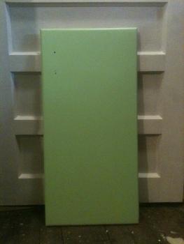 Lime twist on cabinet door