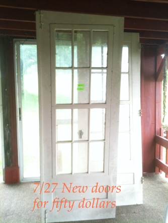 Fifty dollar French doors