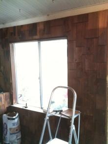 Cedar shakes and old window