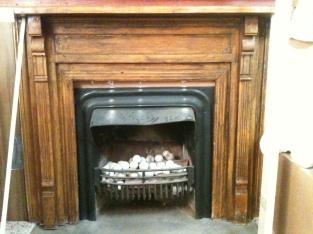 coal burning fireplace