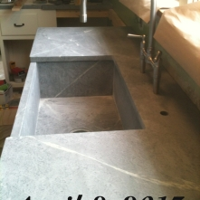 Soapstone sink and countertop