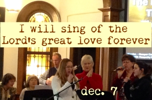 I will sing of his great love forever...