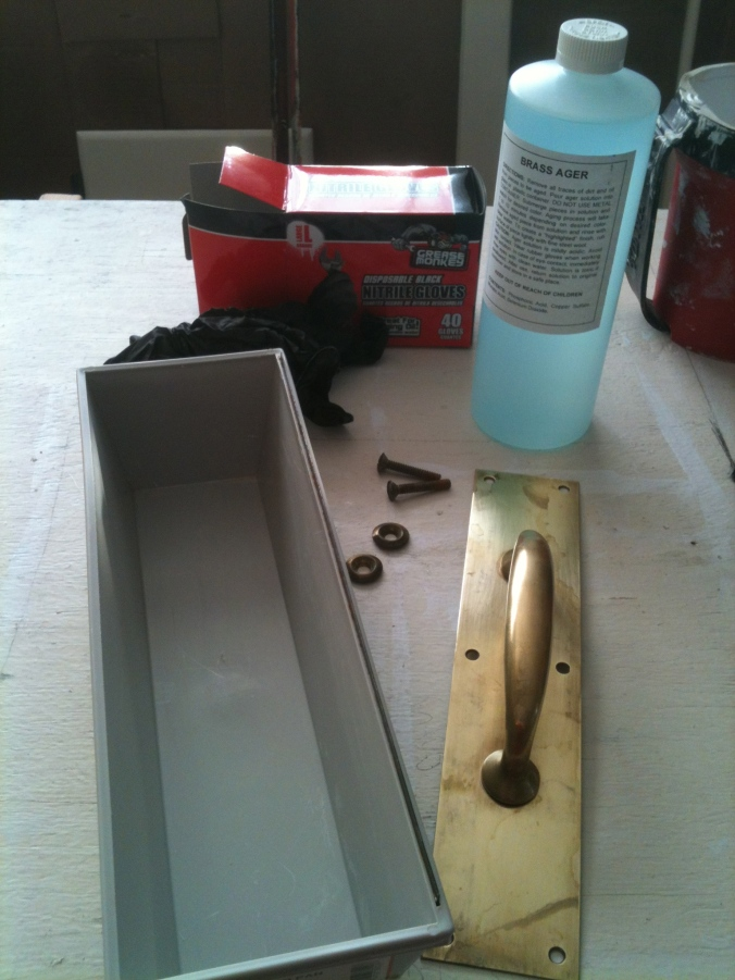 Items for DIY oil rubbed bronze finishing