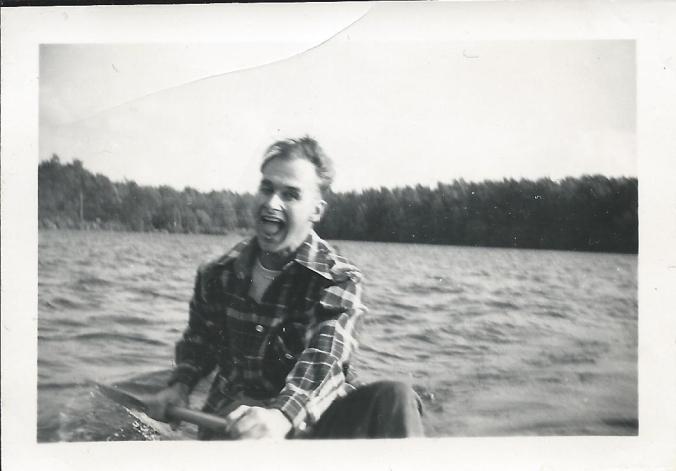 Dad rowing