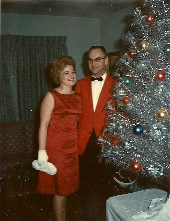 Dad and Mom on New Year's Eve