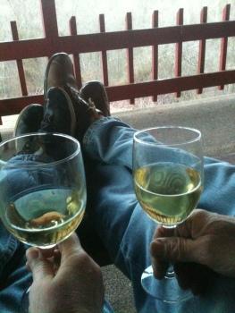 chardonnay on the porch