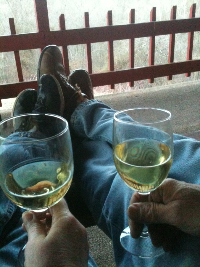 chardonnay on the porch
