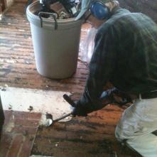 removing linoleum