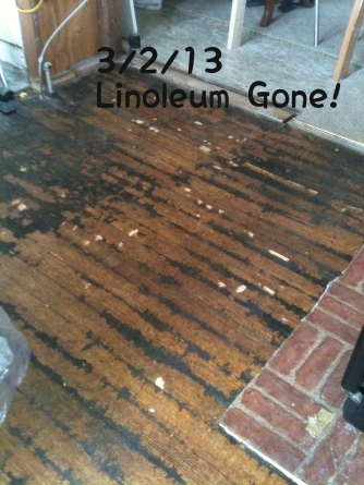 Linoleum gone