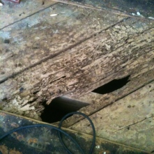 This is actually the subfloor.