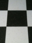 black and white checkerboard VCT