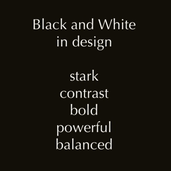 black and white in design