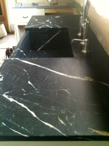 Oiled soapstone countertop