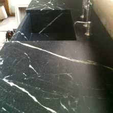 Oiled soapstone countertop