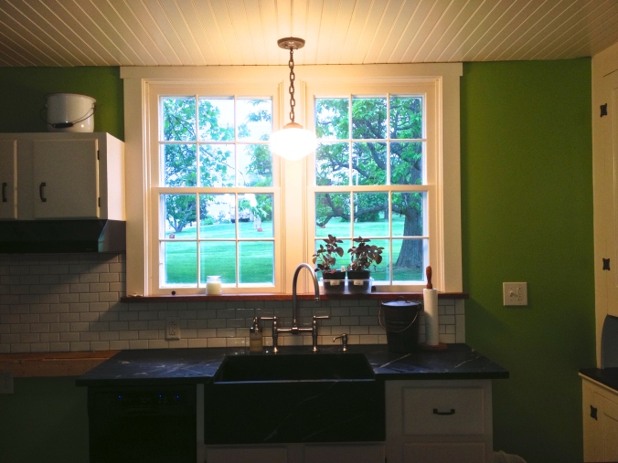 Kitchen Windows at Apple Hill Cottage