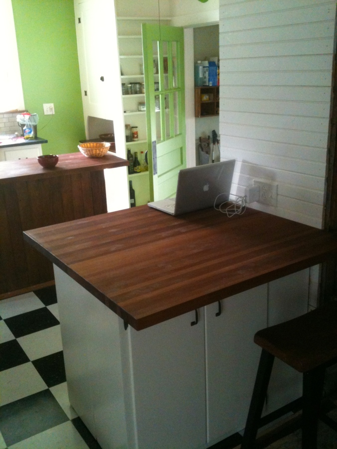 Sapele butcher block counter top