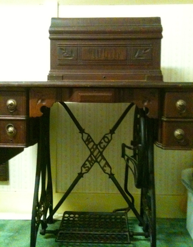 White Treadle Sewing Machine.