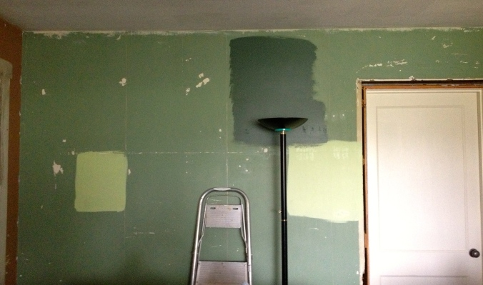 Greens on the Dining Room wall