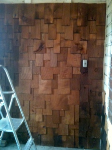 Cedar shakes used to cover the walls