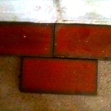 We hope this thick tile will help cover the cracks.