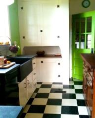 Built-in farmhouse cupboard