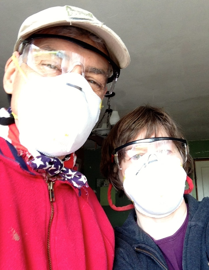 safety glasses and masks