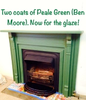mantle painted Peale Green
