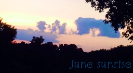 June sunrise