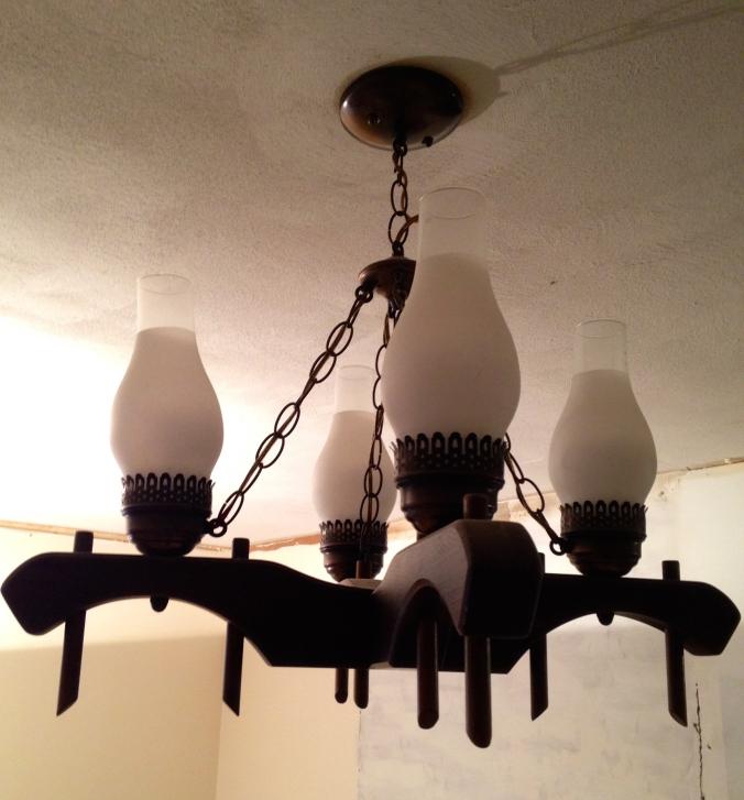 Ox yoke chandelier