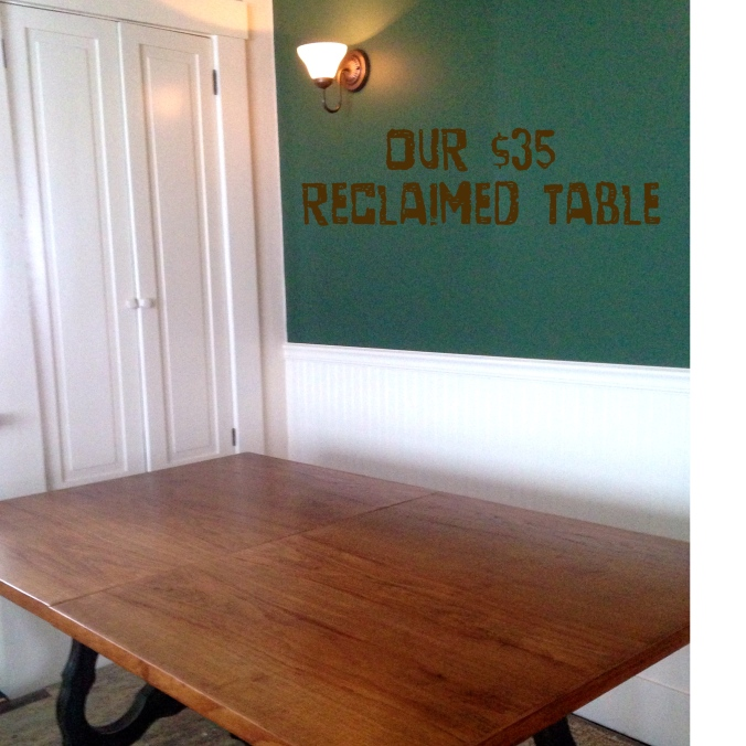 Dining room table and breadboard