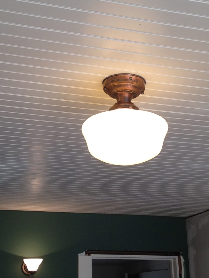 Schoolhouse ceiling light