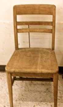Vintage chairs at St. Vincent de Paul's for $6.99 each.