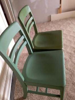 Chalk Paint Chairs 101: cheapskate style