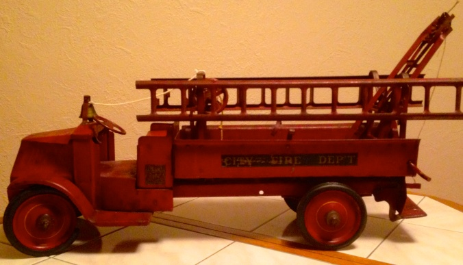 Antique Steelcraft Toy Mack Firetruck