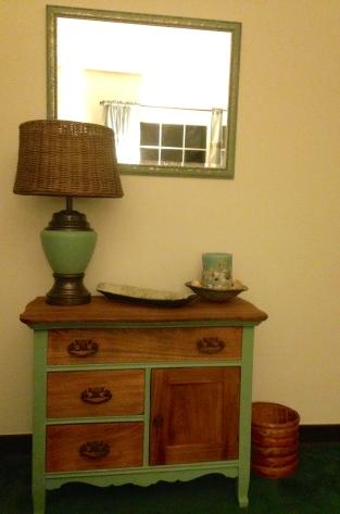 New lamp, wicker lampshade