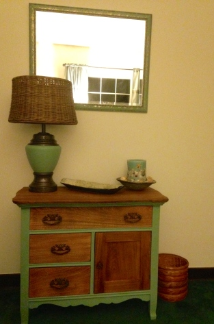 New lamp, wicker lampshade