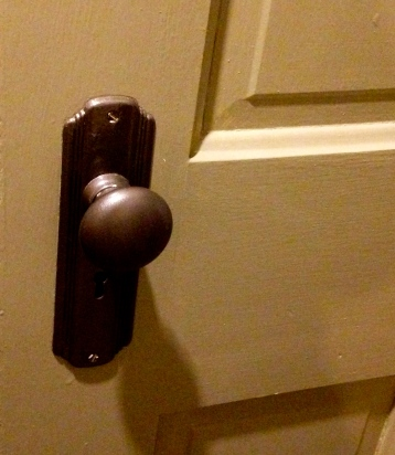 Door and repainted knob