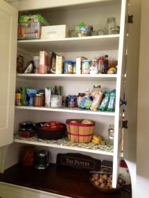 a well-stocked pantry