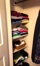 new shelves in the closet
