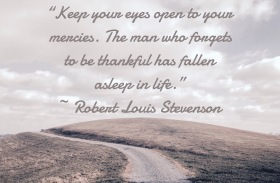 Keep your eyes open to your mercies