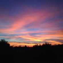 Sunrise at Apple Hill