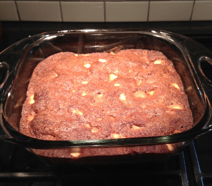 Apple Walnut Pudding Cake