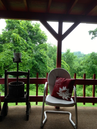 back porch at the cottage