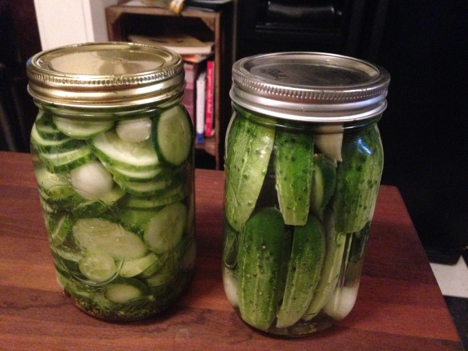 Lithuanian half-sour pickles by the jar