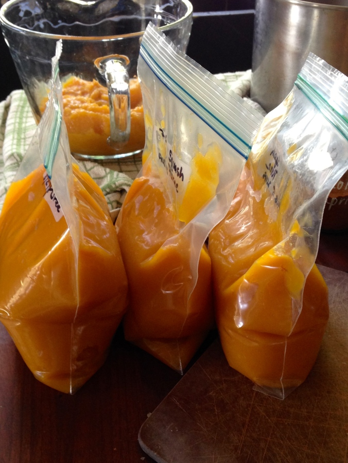 squash for the freezer