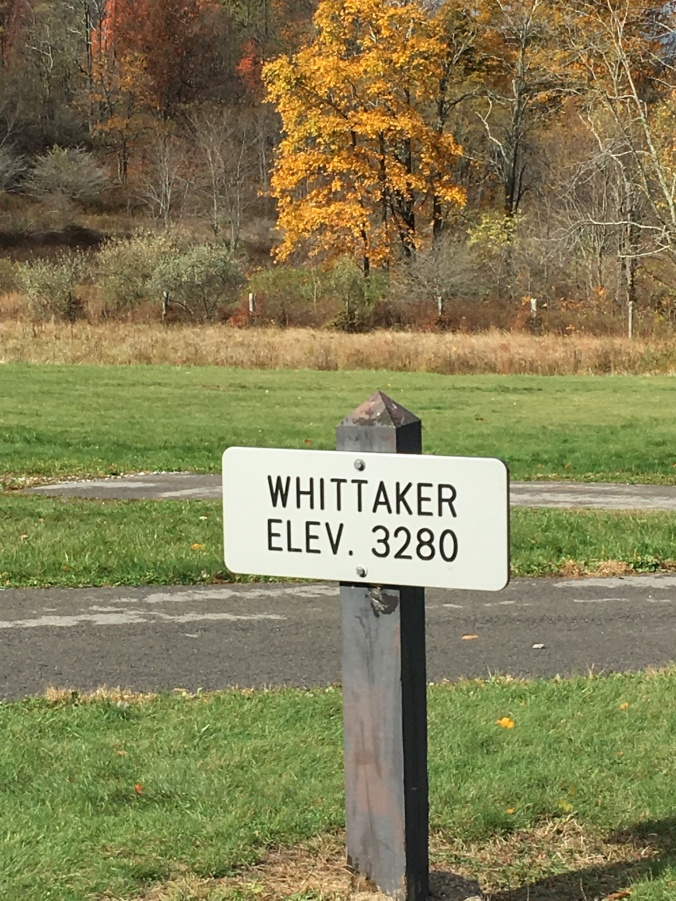 Whittaker Station Elevation Sign